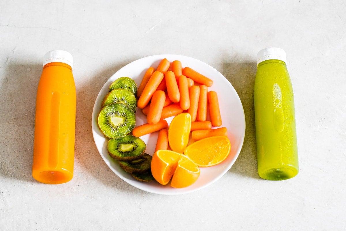 Kiwi Carrot Orange Juice for Digestive System