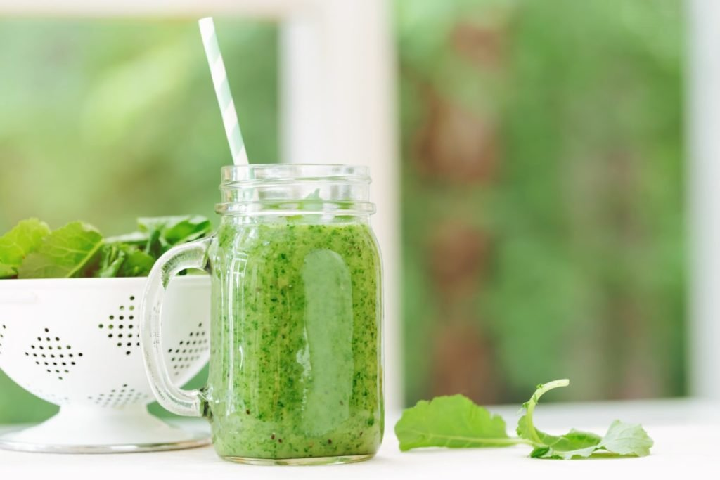 Kale and greens smoothie beverage