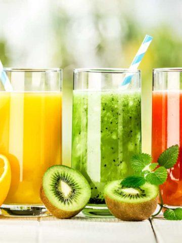 Orange, Kiwi, Strawberry Delicious Fresh Juice