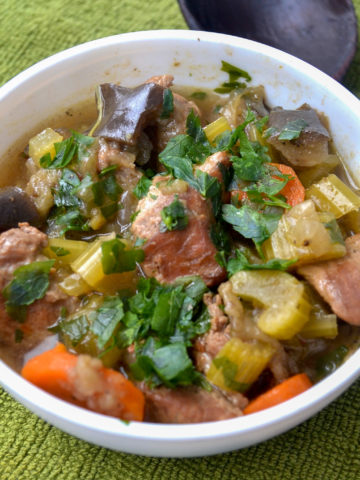 Instant pot keto beef stew serving