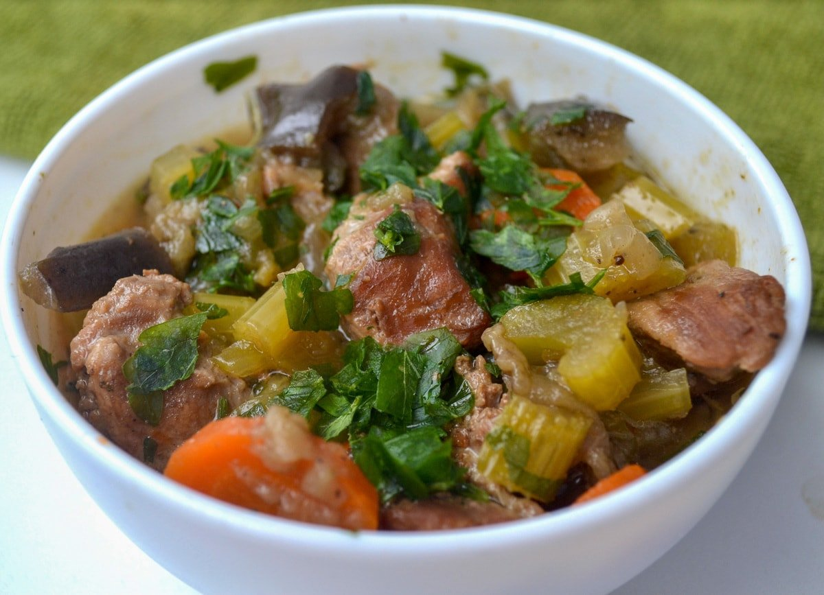instant pot beef stew finished