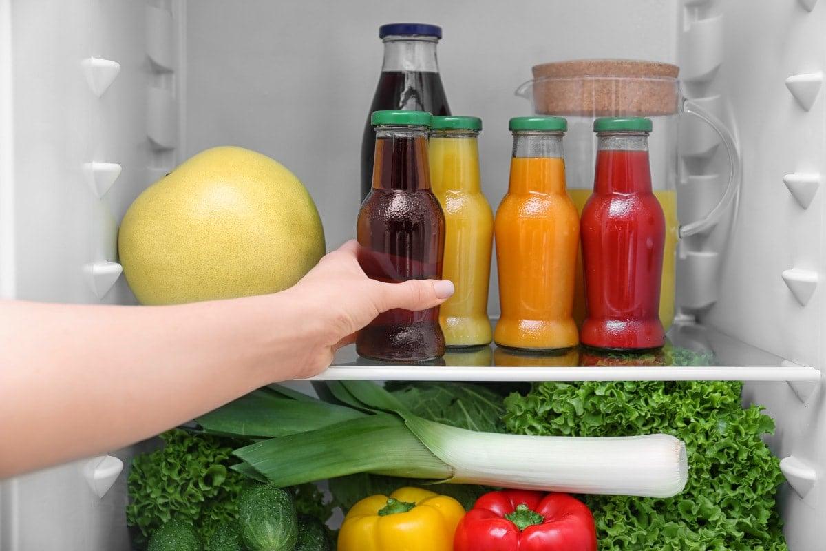 Juice stored lasts fridge