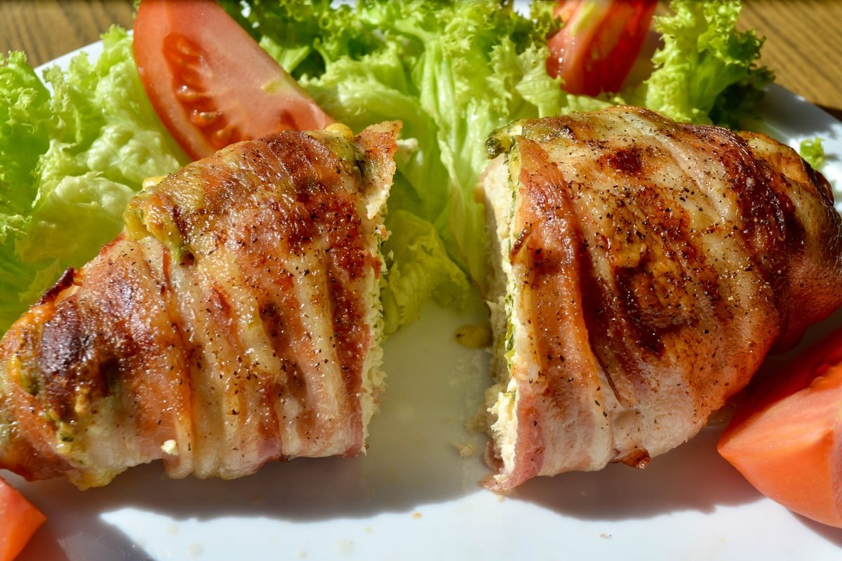 bacon-wrapped cream cheese chicken