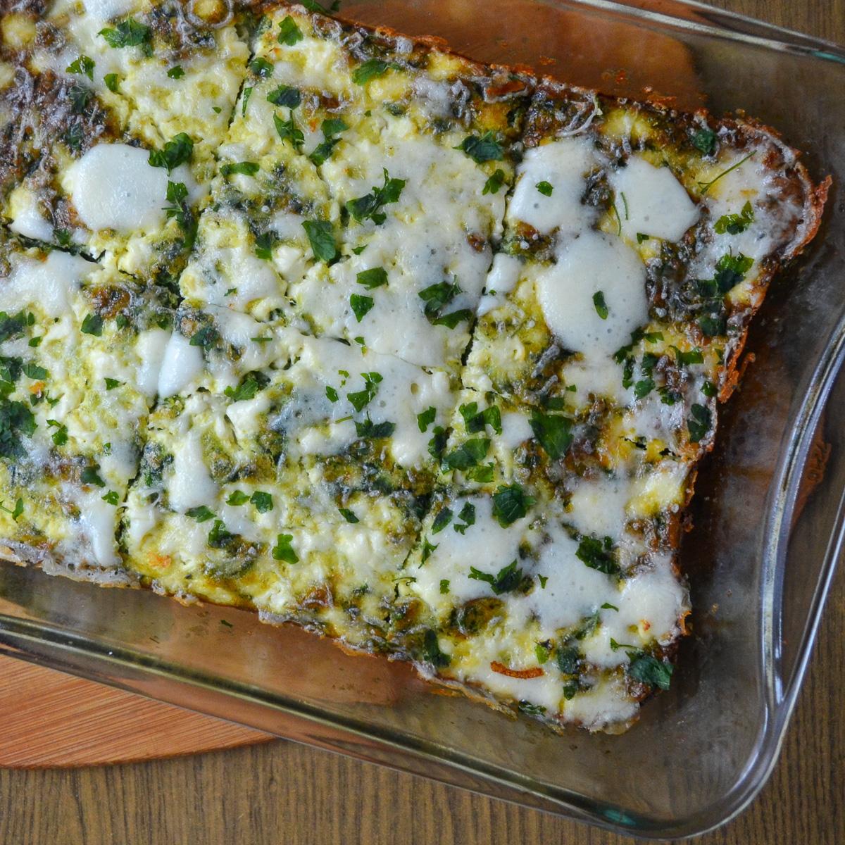 Keto vegetarian breakfast casserole