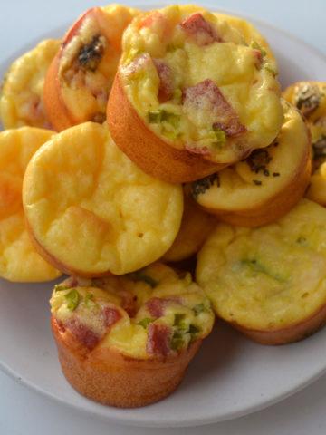 Keto breakfast egg bites ready for eating