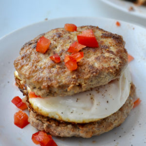 Keto breakfast sausage patties on plate