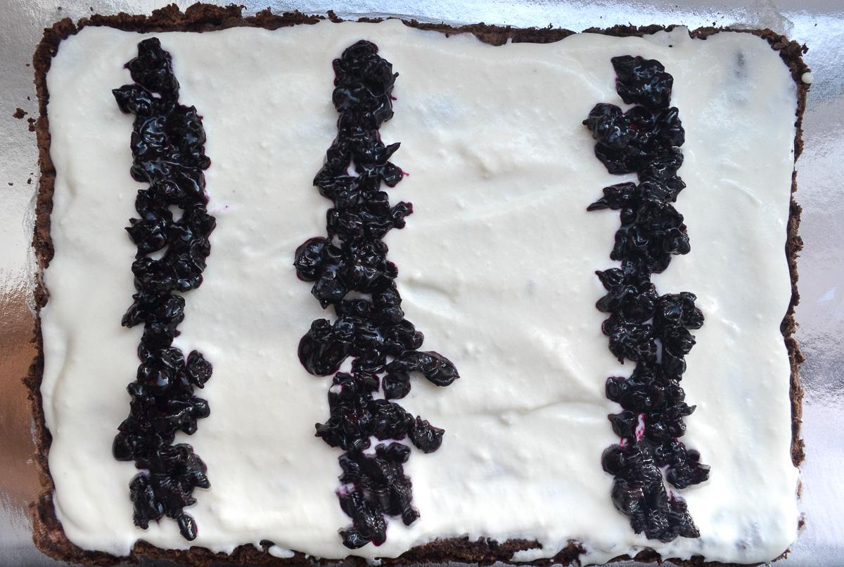 Keto chocolate roll cake preparation
