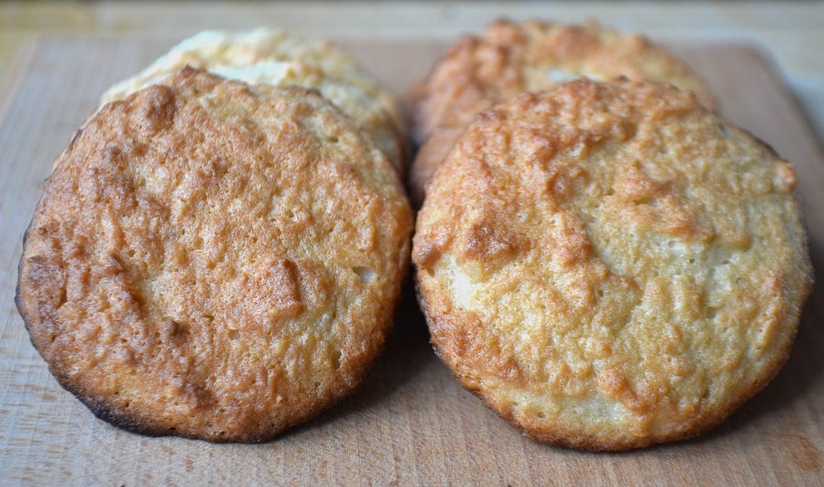 Keto coconut cookies freshly baked