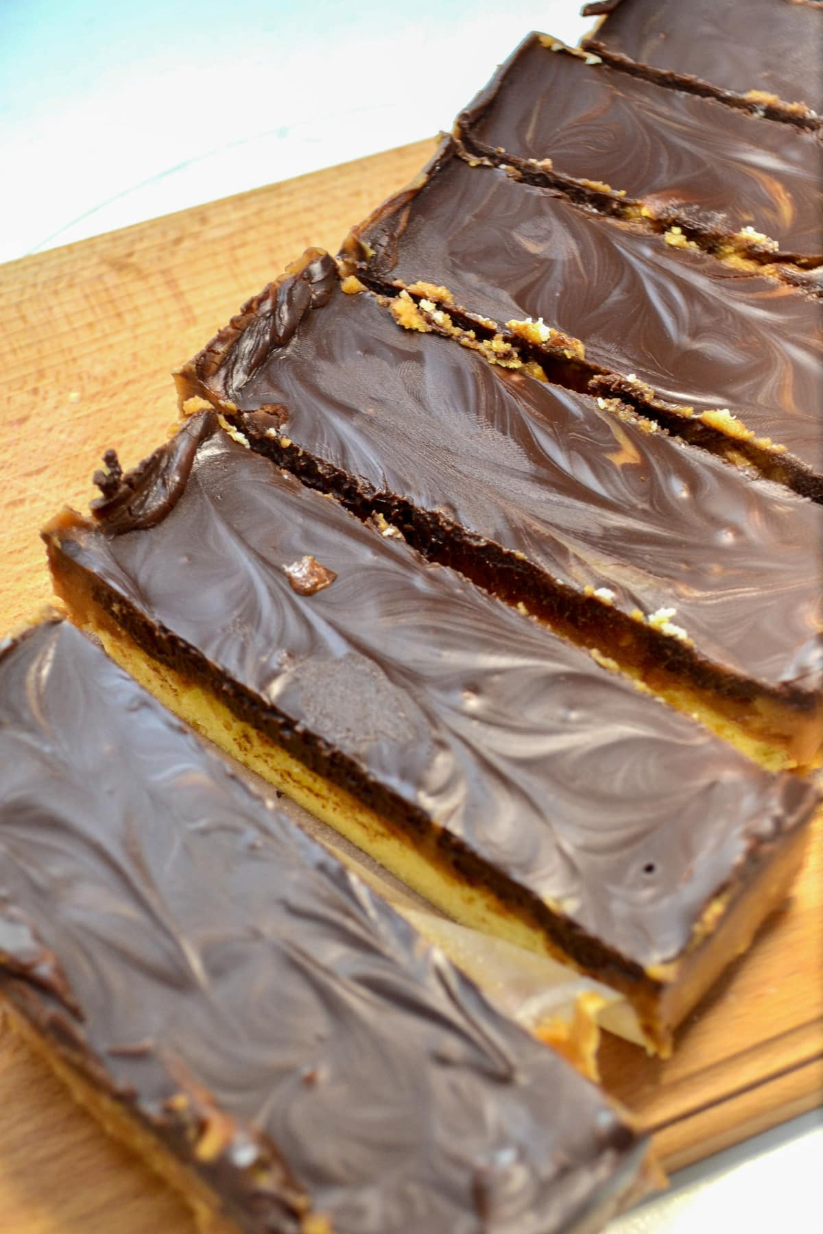 cut peanut butter bars