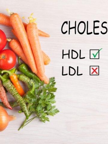 Good HDL and bad LDL cholesterol