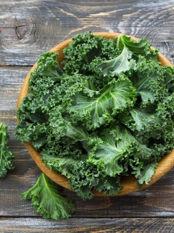 Basket of curly kale