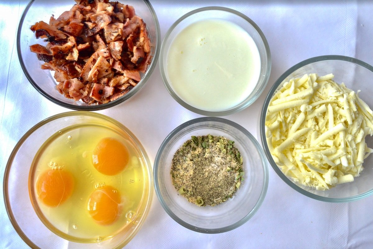 keto bacon and cheese quiche ingredients