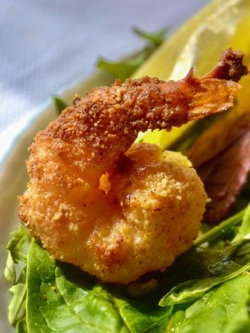 Crispy keto shrimp