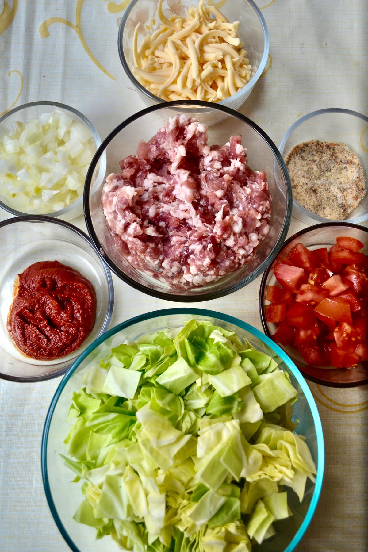 Keto Unstuffed Cabbage Rolls ingredients