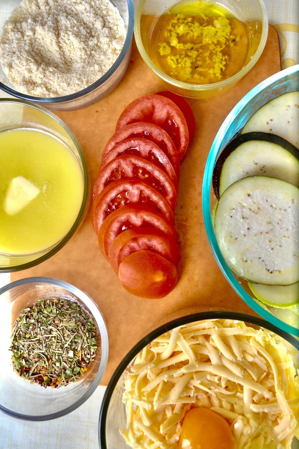 Keto veggie ratatouille ingredients