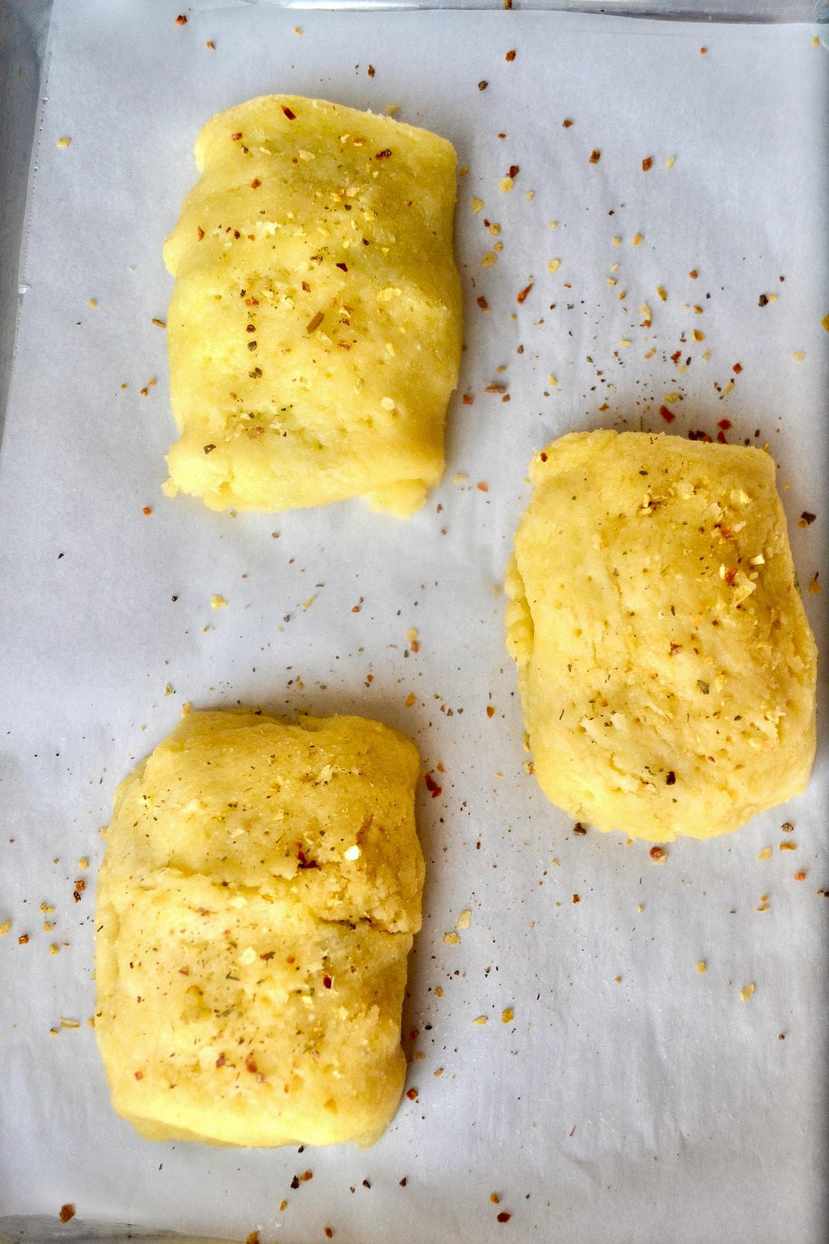 Keto breakfast hot pockets before baking
