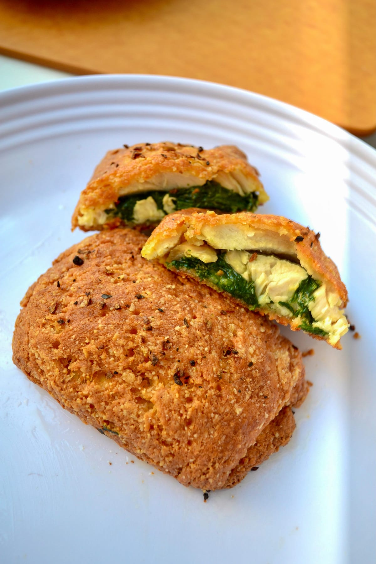 Keto Breakfast Hot Pockets with veggies