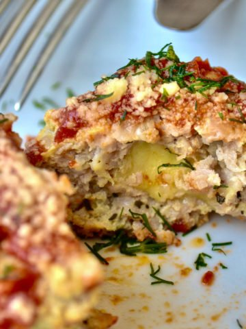 Keto Cheese-Stuffed Meatballs on plate