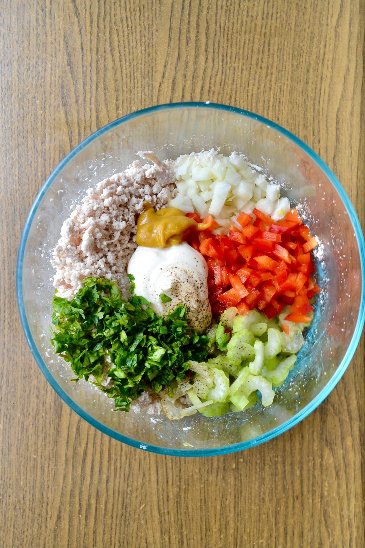 Easy Keto Chicken Salad ingredients