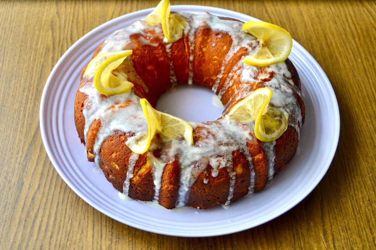 keto lemon cake finished