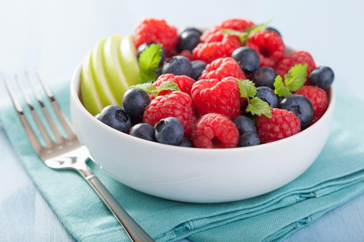 Apples, Rasberries and Blueberries