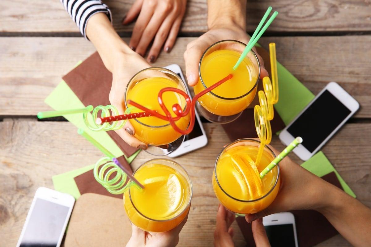 Juice Drinking