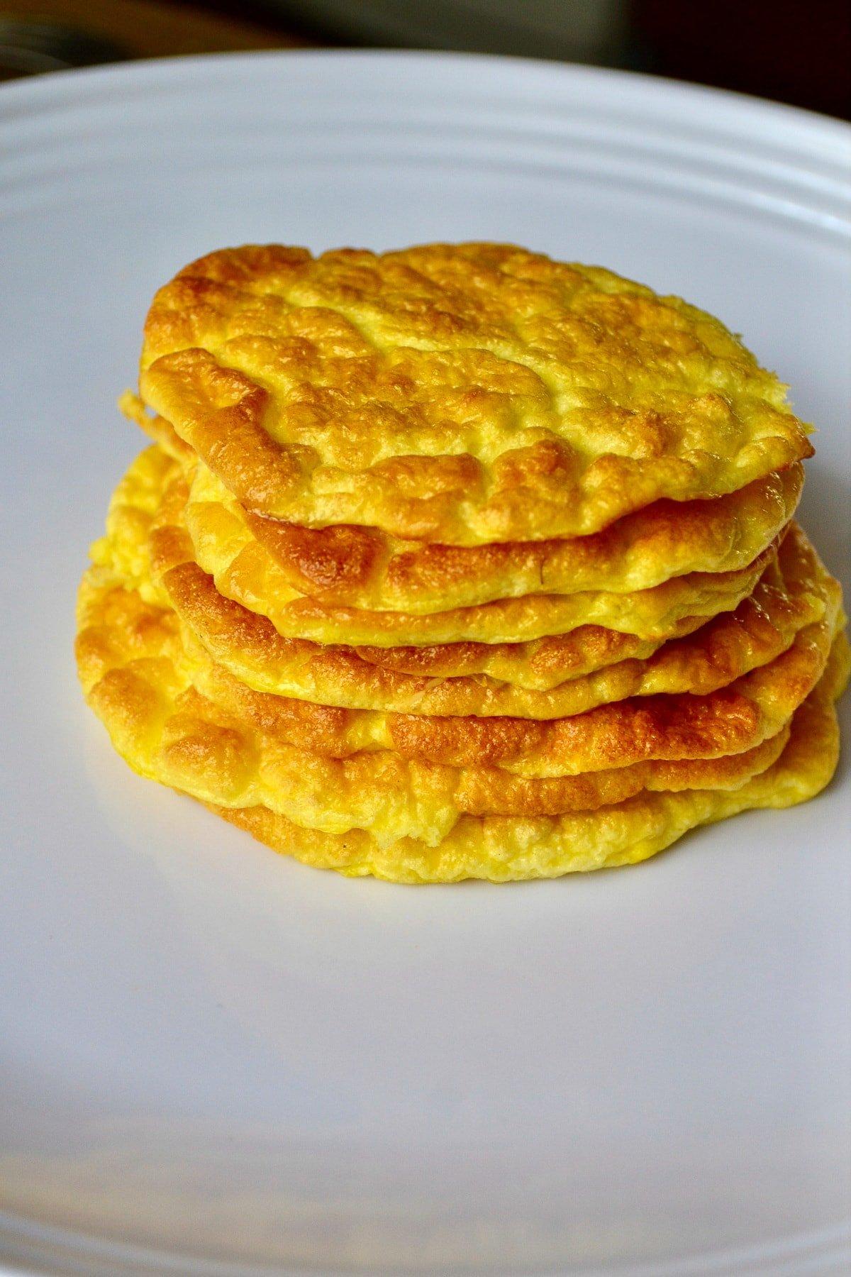 Keto Breakfast Cloud Bread baked