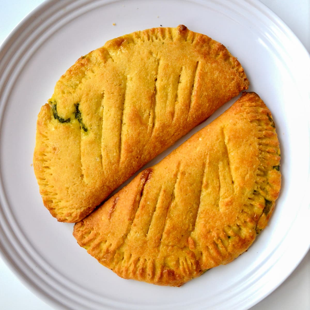keto Spinach and Cream Cheese Calzone served