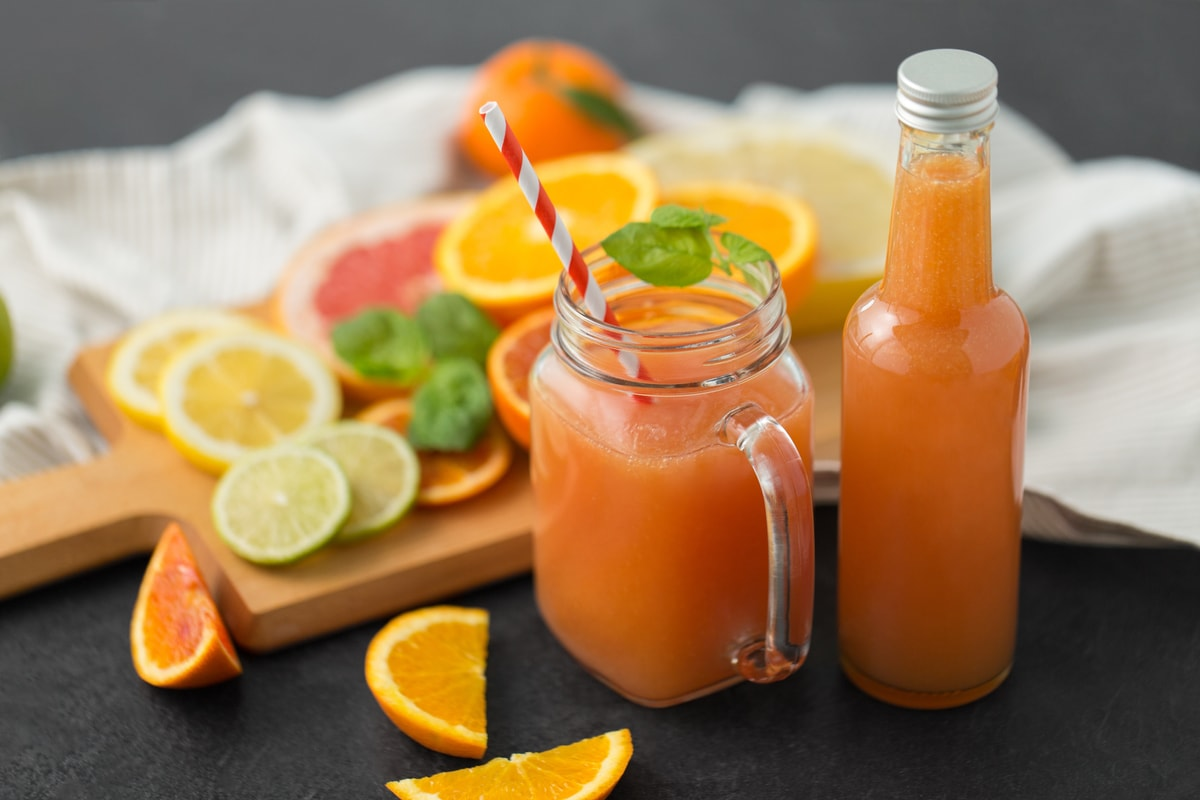 A Delicious Citrus Drink for Your Skin
