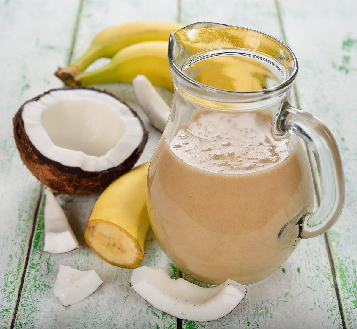 Banana, sweet potato, coconut milk