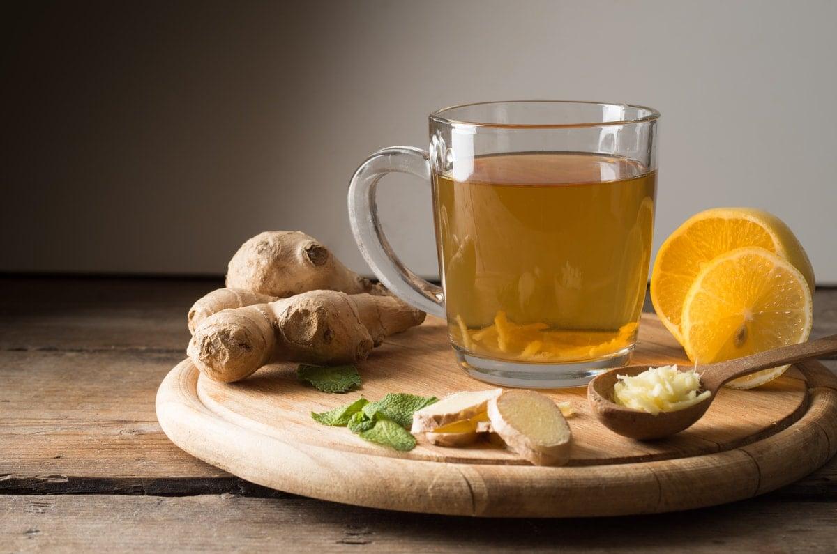 Lemon Ginger Tea for Liver Detox
