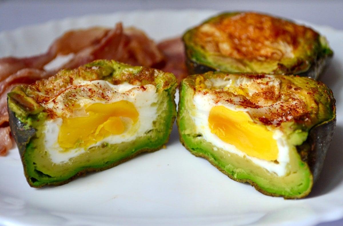 Keto Air Fryer Avocado Baked Egg finished