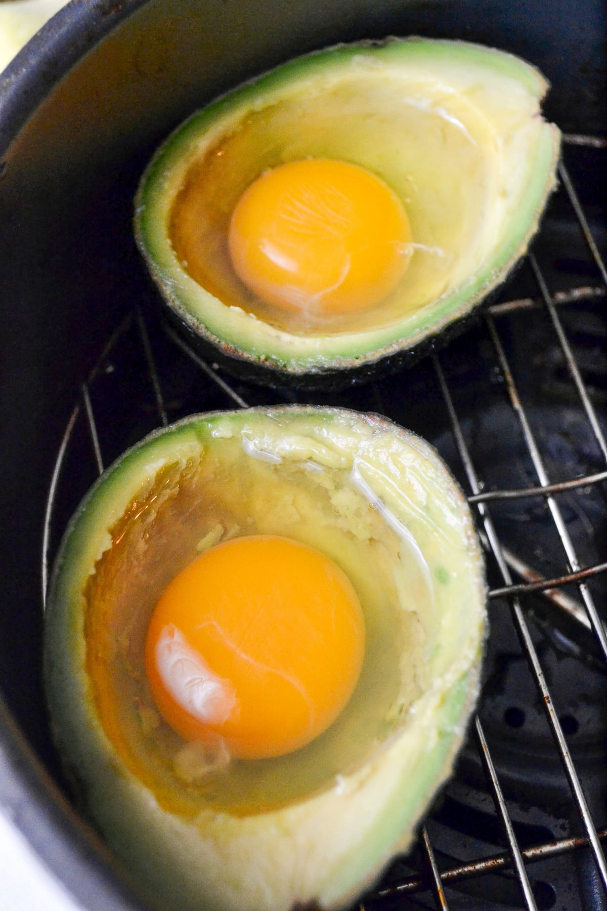 Keto Air Fryer Avocado Baked Egg prep