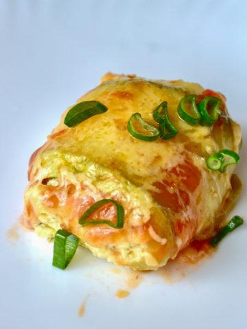 Keto Zucchini Cream Cheese Roll-Ups slice