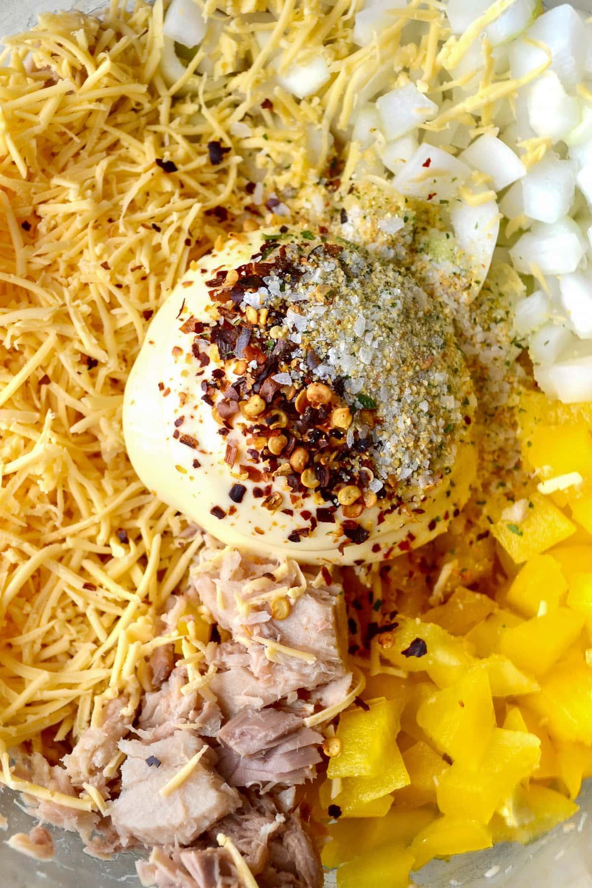 Keto Tuna Casserole ingredients