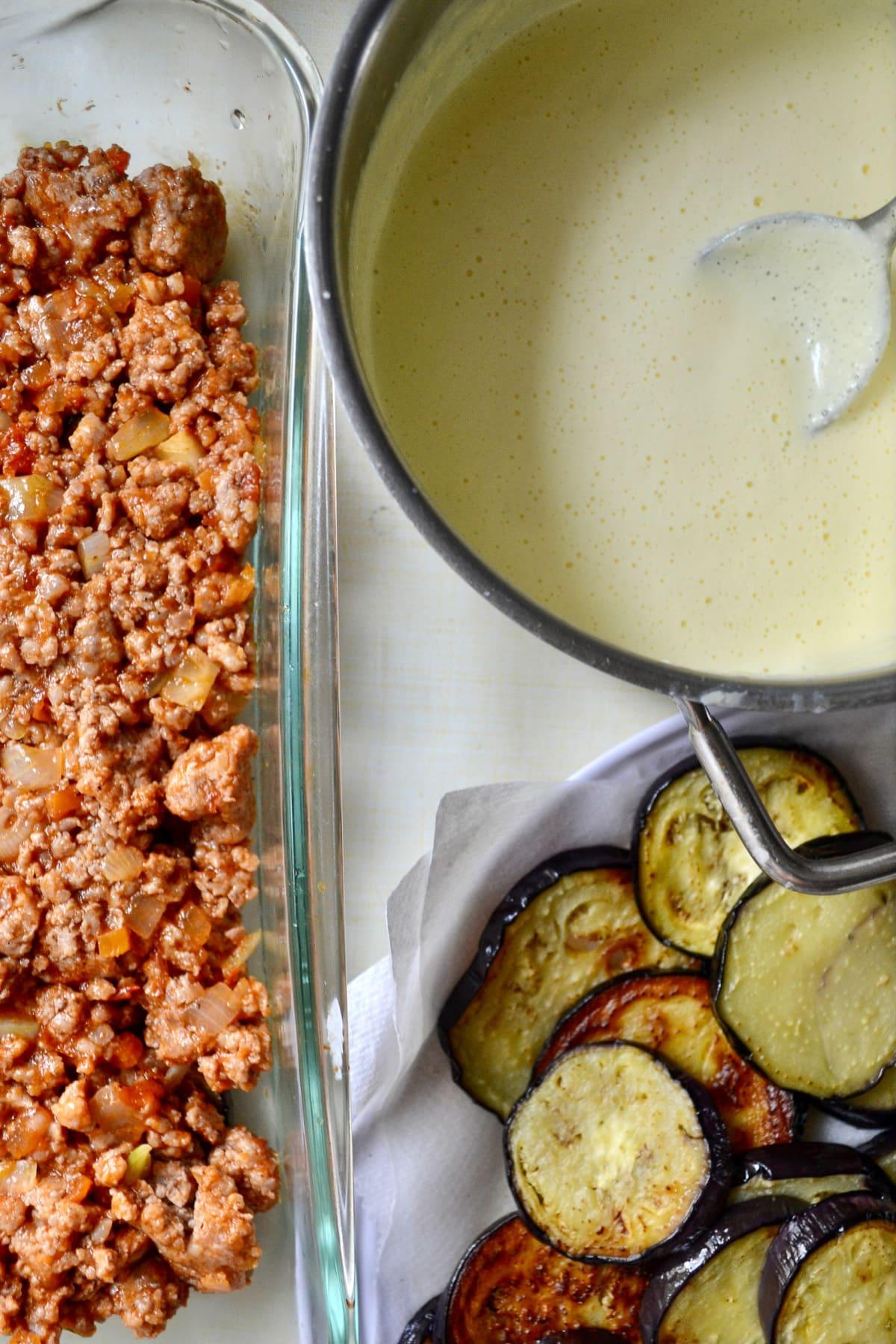 Keto Moussaka With Eggplant ingredients