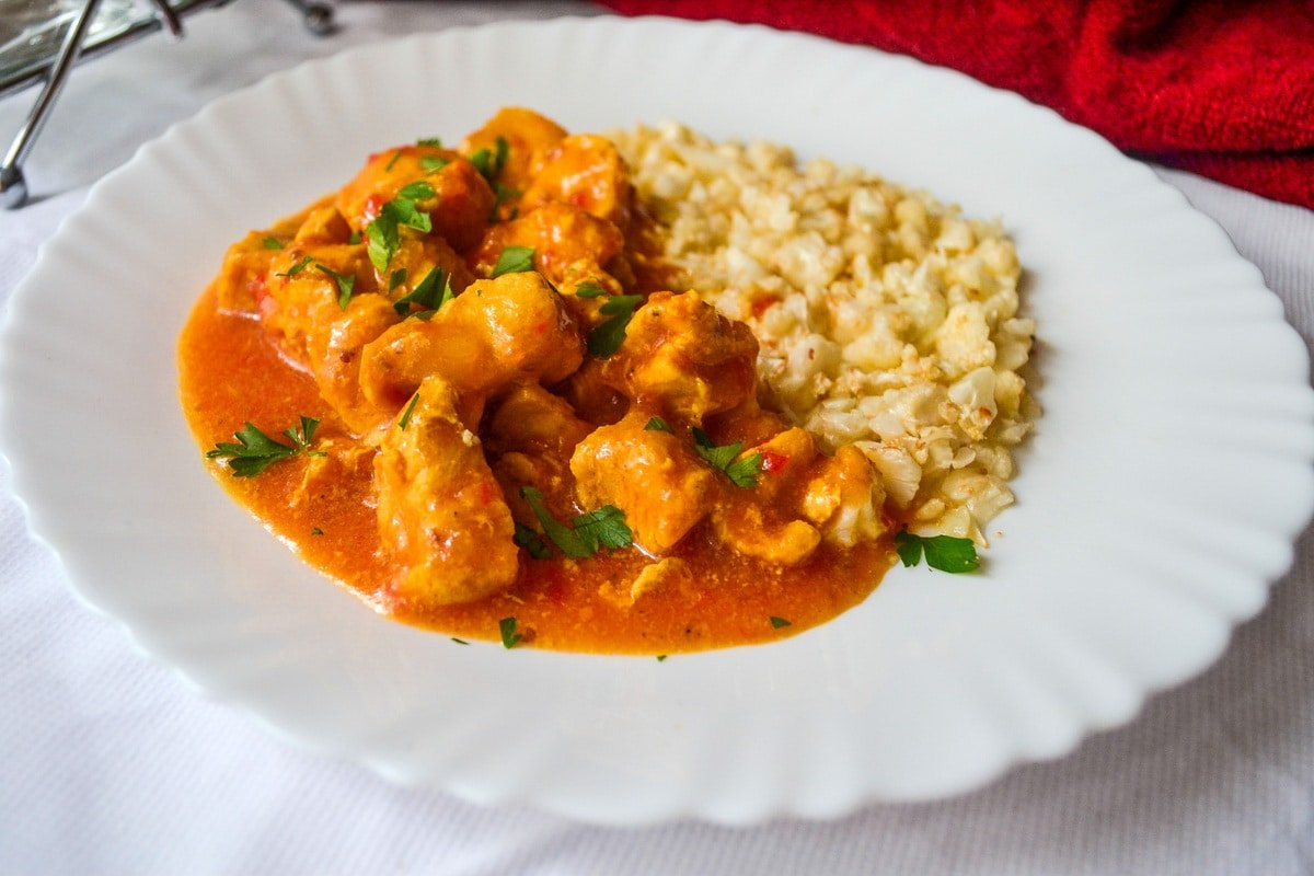 Keto Instant Pot Chicken Curry finished