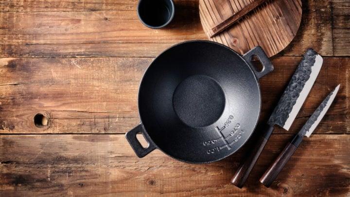 small non stick cast iron mini wok