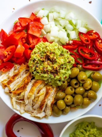 keto burrito bowl featured
