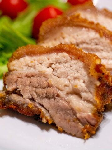crispy keto pork belly